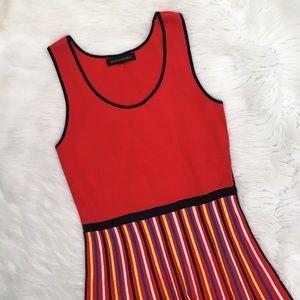 Banana Republic Red Striped Knit Sleeveless Dress